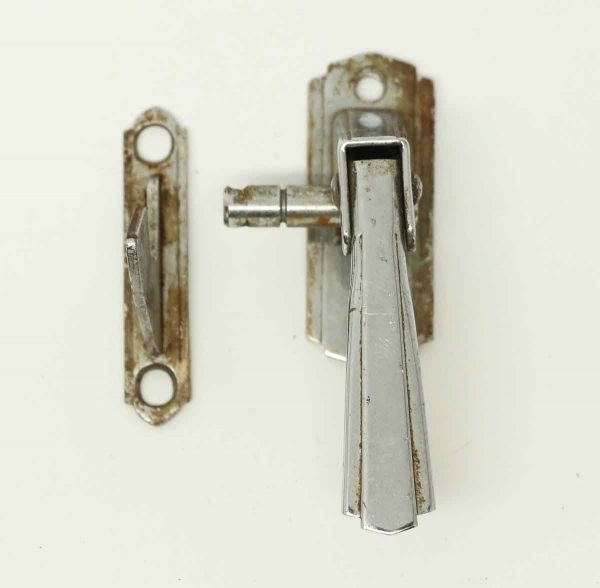 Vintage Chrome Deco Latch - Cabinet & Furniture Latches
