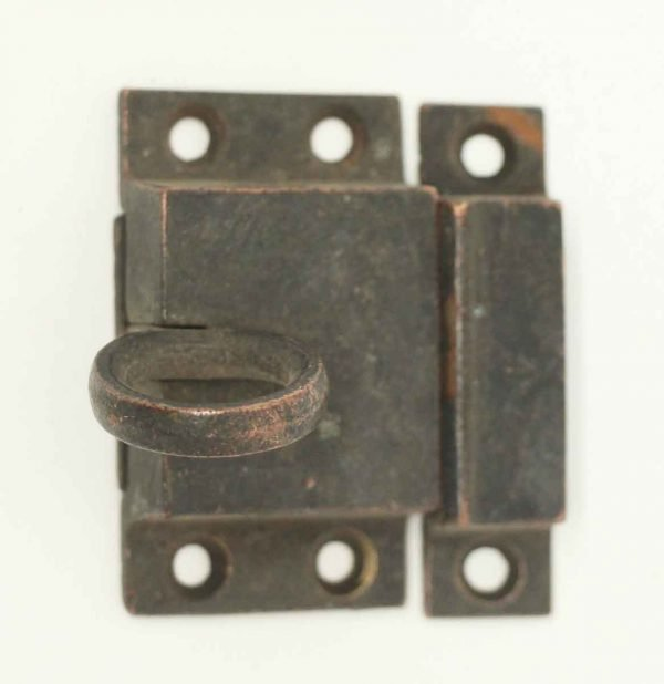 Old Bronze Ring Pull Cabinet Latch - Cabinet & Furniture Latches