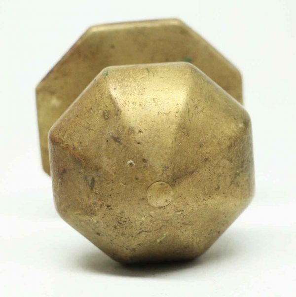 Center Octagon Antique Bronze Door Pull - Door Knobs