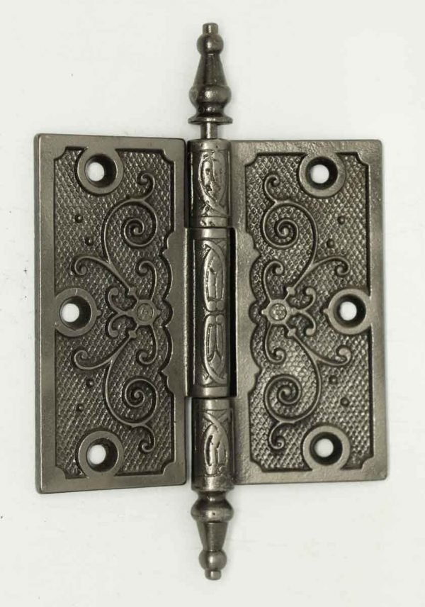 Iron Victorian Decorative Hinge - Door Hinges