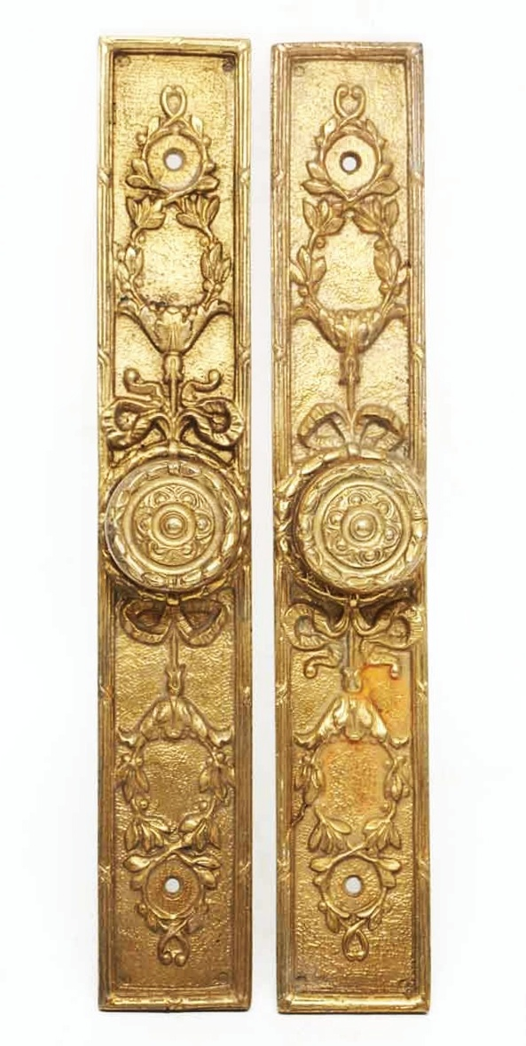 Gilded French Floral Fixed Door Pulls - Door Pulls
