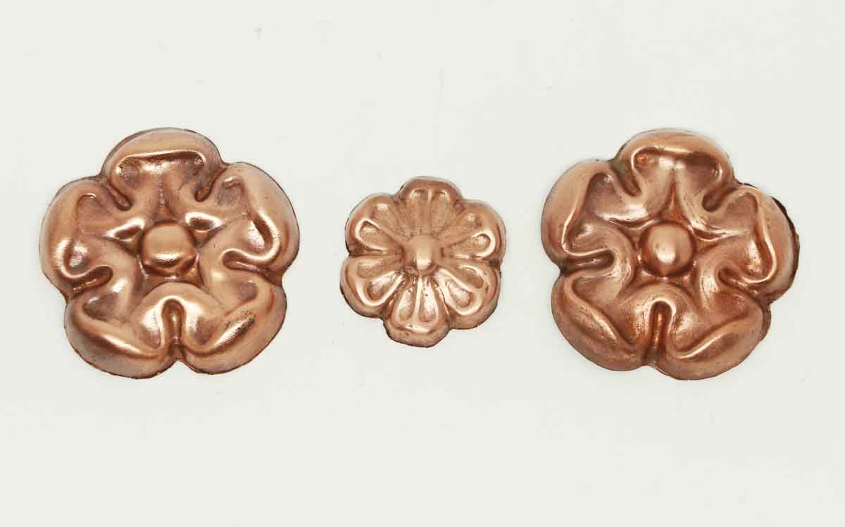 Copper plated floral aluminum appliques olde good things