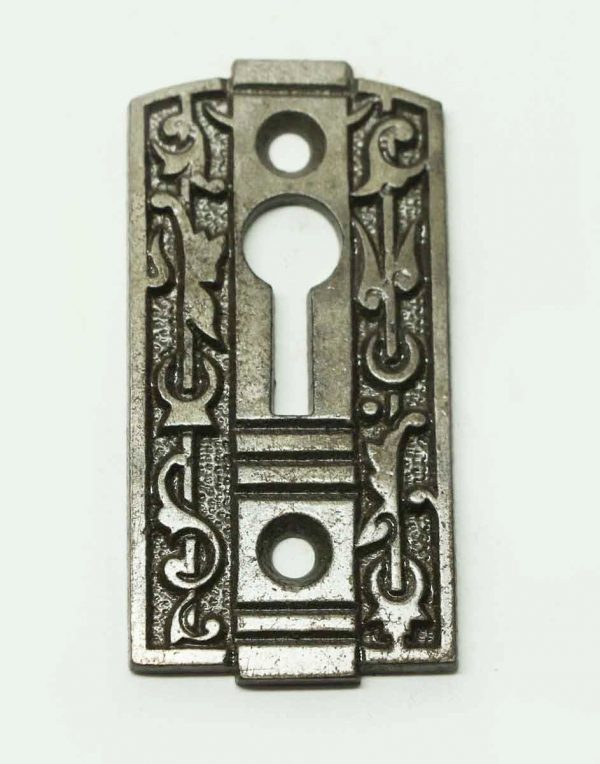 Antique Art Deco Cast Iron Keyhole Cover - Keyhole Covers