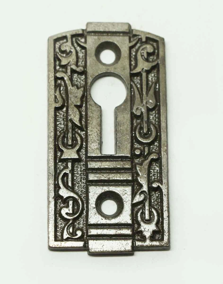 Antique Art Deco Cast Iron Keyhole Cover Olde Good Things