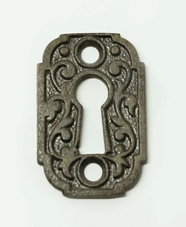 Antique Victorian Cast Iron Door Keyhole Plate - Keyhole Covers