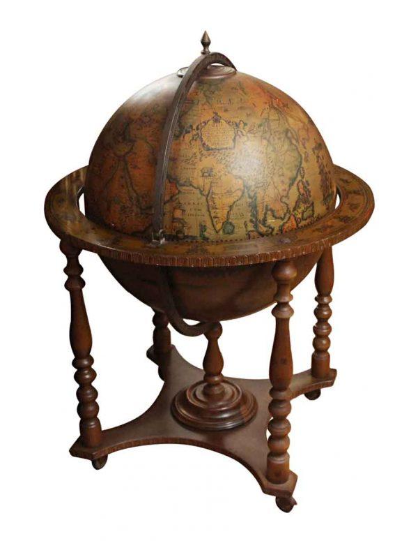 Italian Mid Century World Globe Bar - Globes & Maps