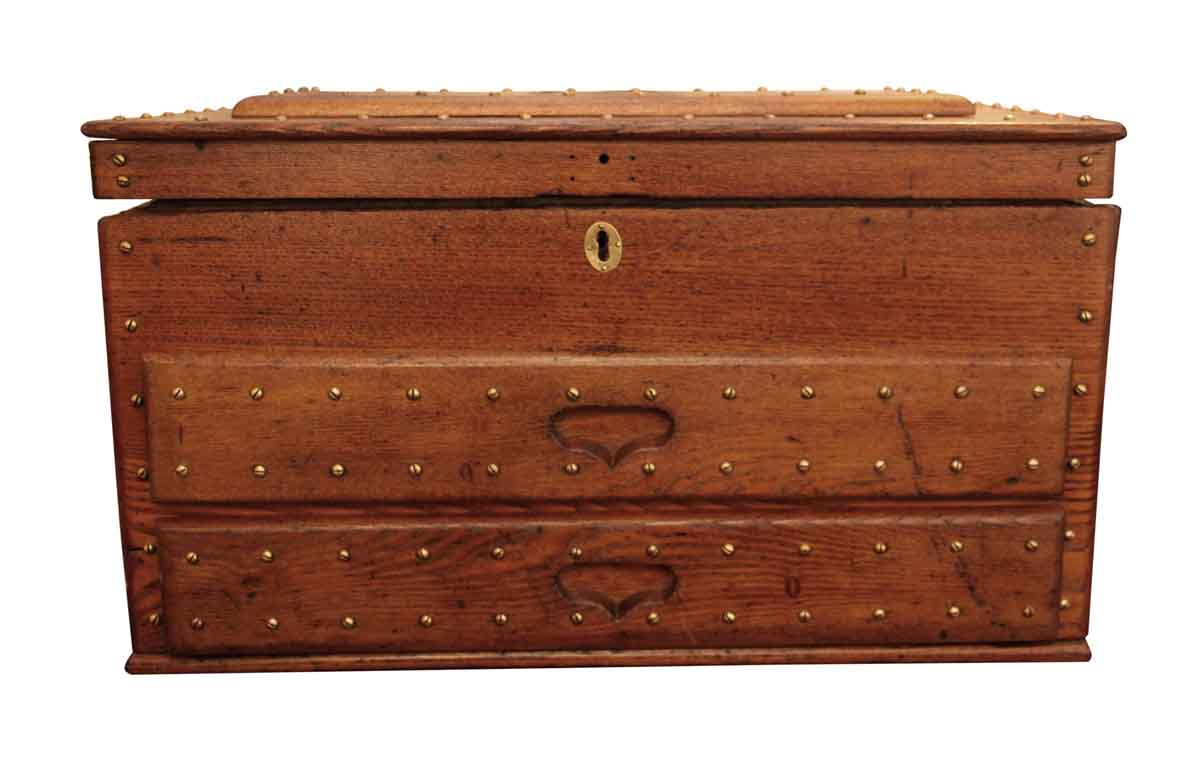 Well known Antique Machinist Studded Wood Tool Box | Olde Good Things ZC35