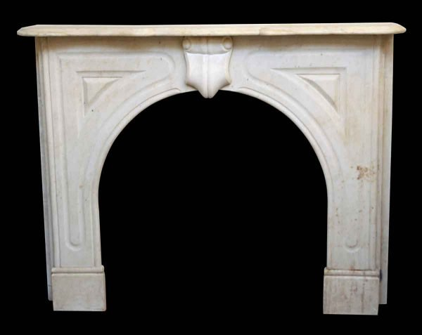 Off White Modern Marble Mantle - Mantels