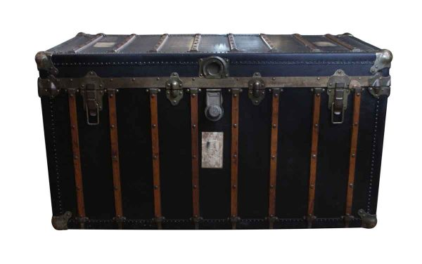 Locking Steamer Black Trunk - Trunks