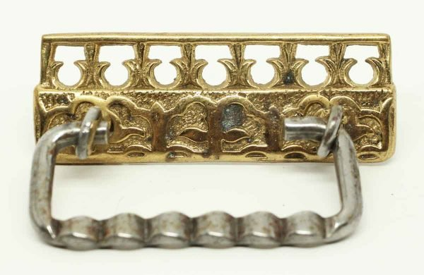 Vintage Polished Brass Cut Out Pull - Cabinet & Furniture Pulls
