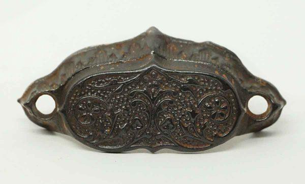 Small Iron Victorian Bin Pull - Cabinet & Furniture Pulls