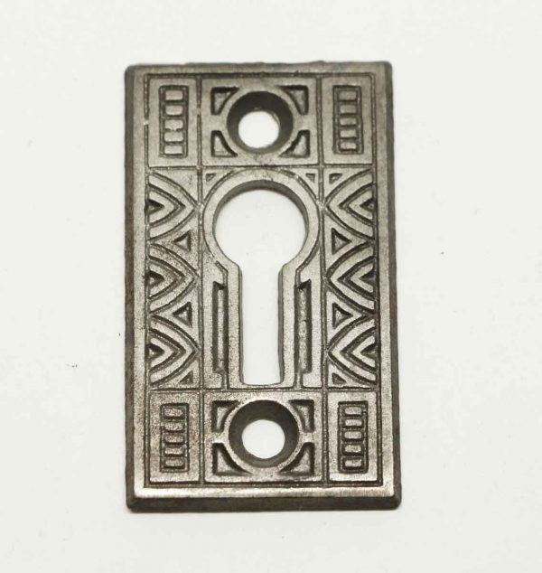 Antique Art Deco Iron Keyhole Escutcheon Plate - Keyhole Covers