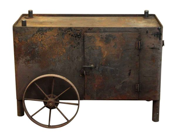Industrial Cast Iron Console Cart - Industrial