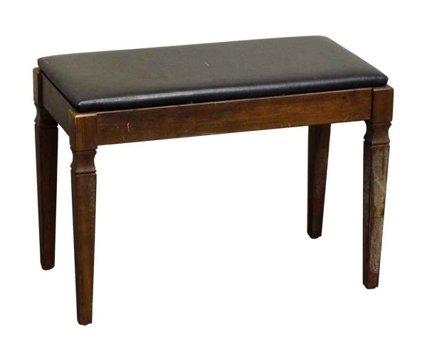 Vintage Wooden Music Bench With Cushion Seat - Seating