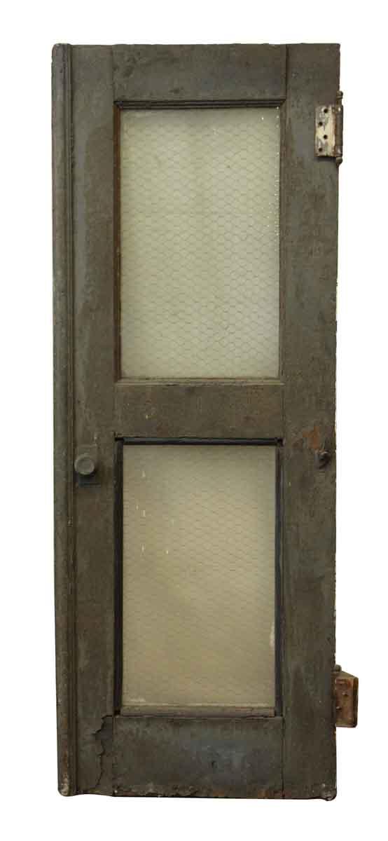 Old Steel Industrial Door With Chicken Wire Glass - Commercial Doors