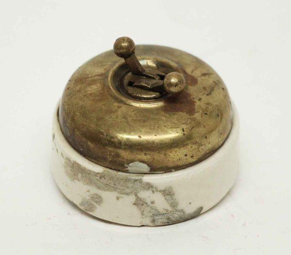 Brass & Bakelite Switch - Elevator Hardware