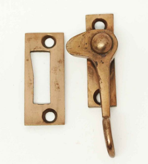 Antique Window Lock with a Copper Wash - Window Hardware