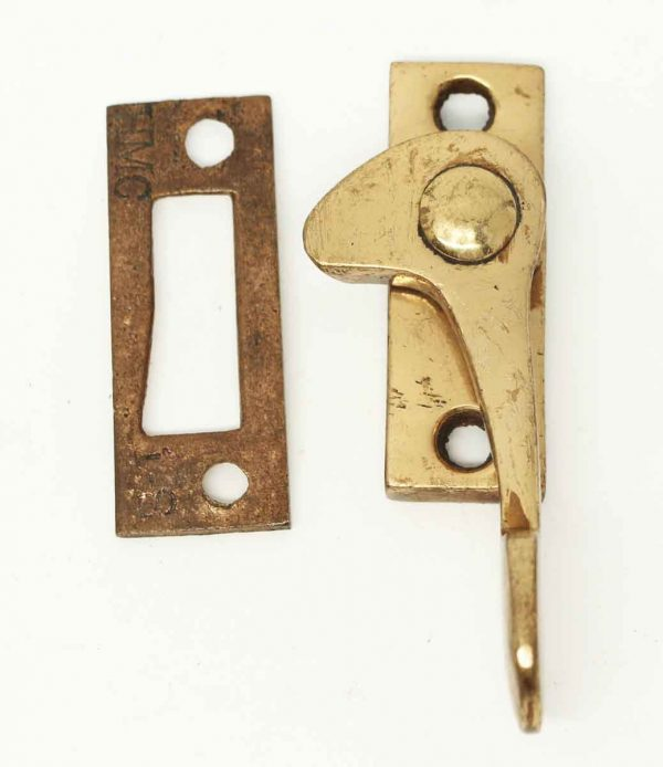 Vintage Polished Brass Window Lock - Window Hardware