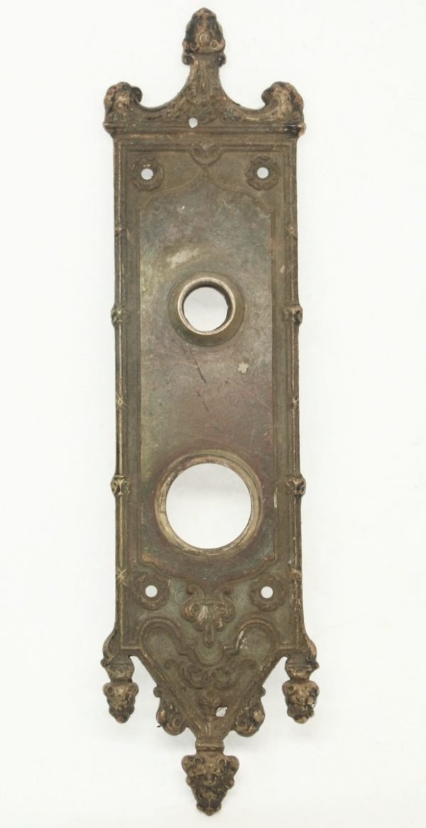 Bronze Gothic Door Plate - Back Plates