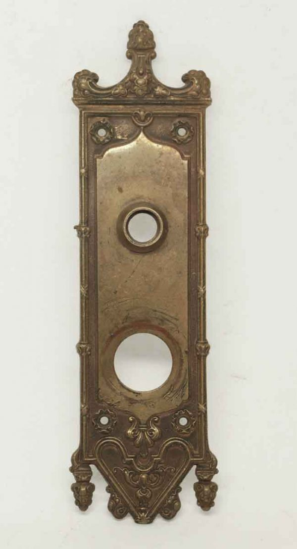 Gothic Bronze Door Back Plate - Back Plates