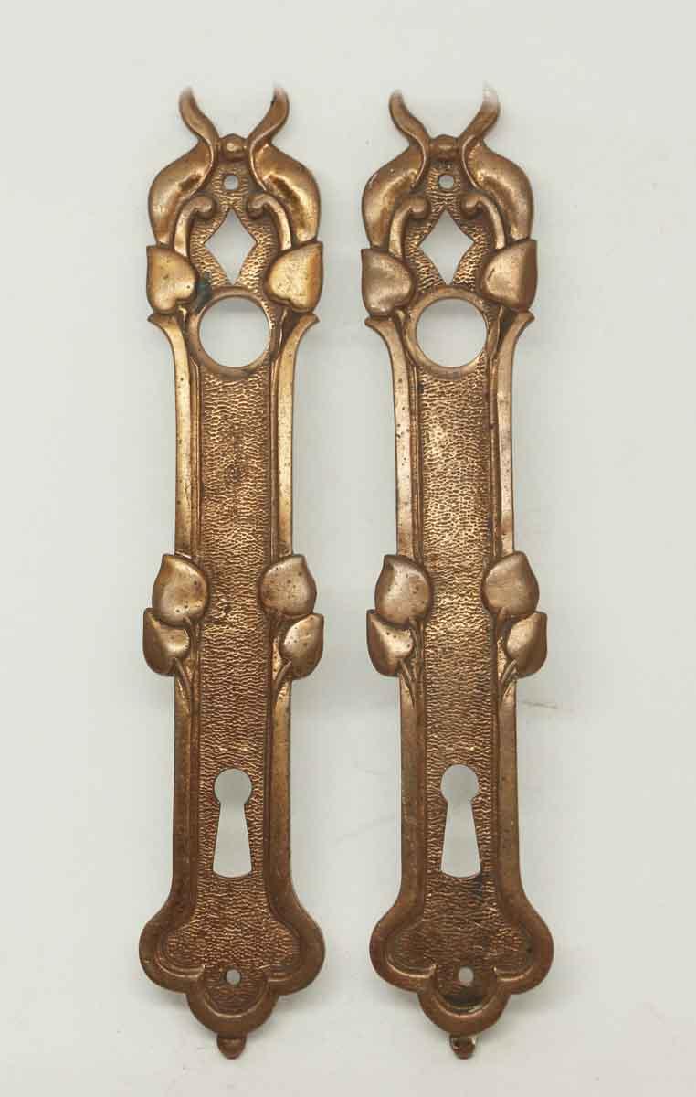 Antique French Bronze Door Plates - Antique French Bronze Door Plates Olde Good Things