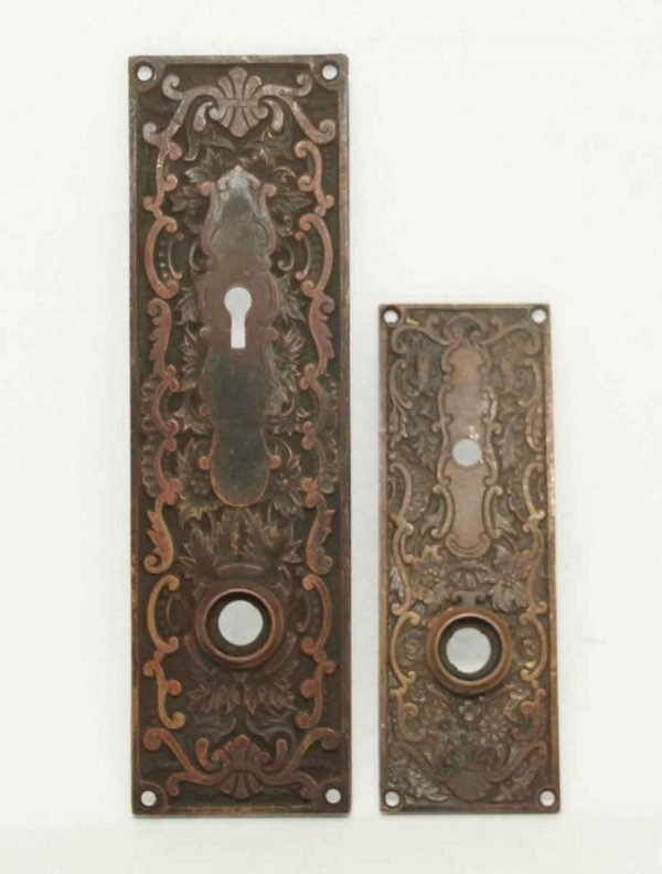 Antique Bronze Entry Back Plate Set - Back Plates
