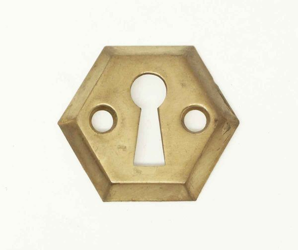 Vintage Mid Century Brass Key Hole - Keyhole Covers