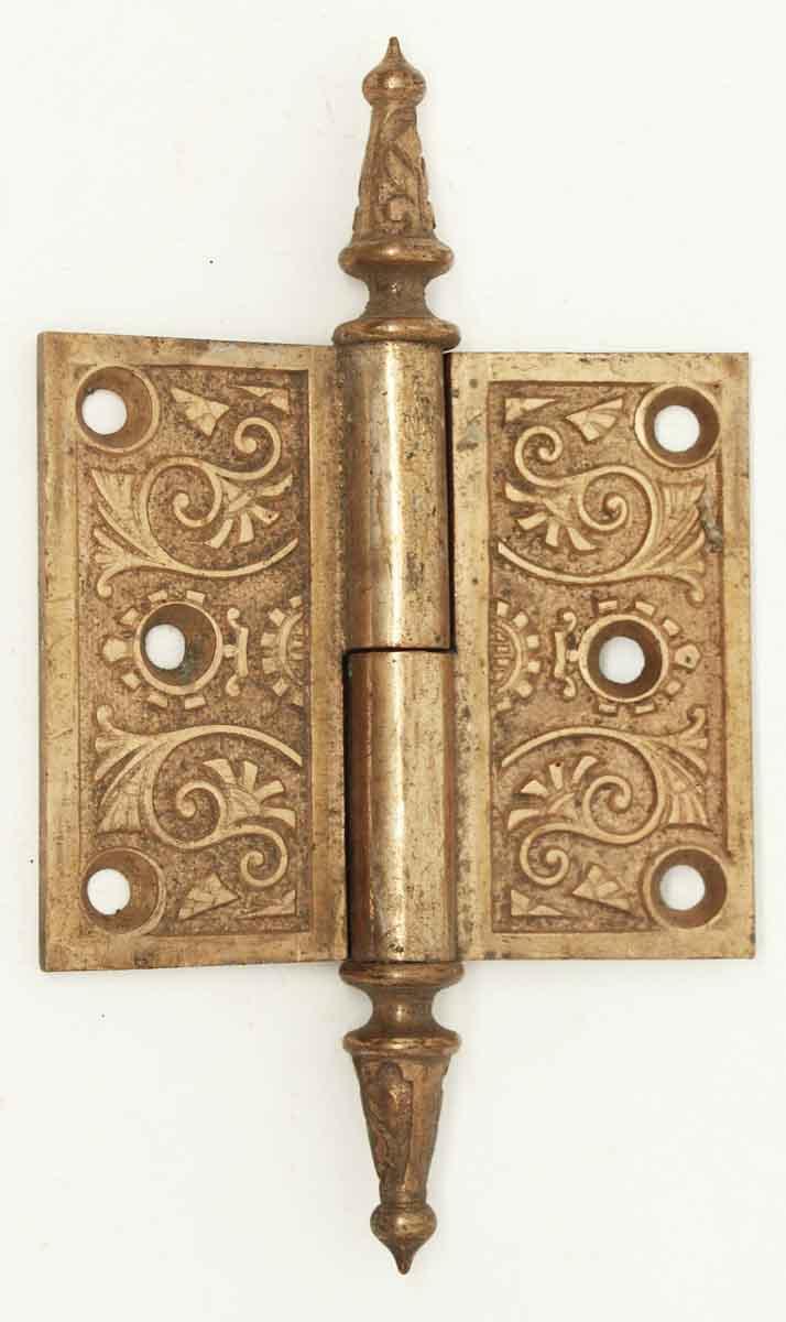 Antique Brass Steeple Door Hinge - Antique Brass Steeple Door Hinge Olde Good Things