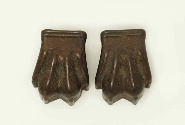 Pair of Tin Claw Furniture Feet Covers - Other Cabinet Hardware