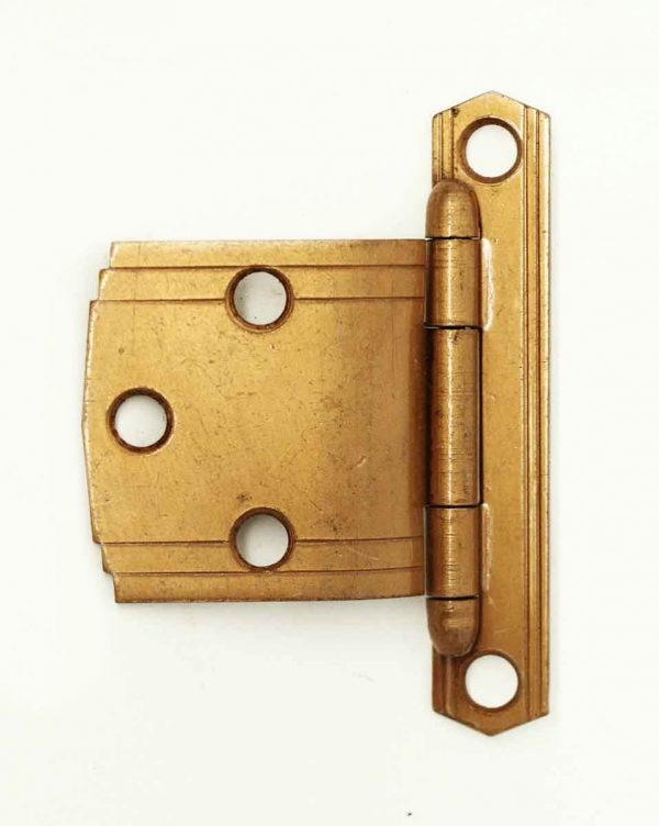 Art Deco Copper Finish Cabinet Hinge - Cabinet & Furniture Hinges