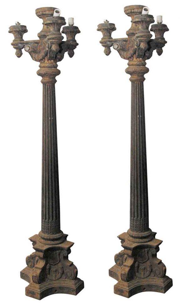Pair of Antique Cast Iron Street Lights - Exterior Materials