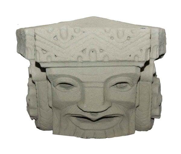 Terra Cotta Inca Head Stone Facade - Stone & Terra Cotta