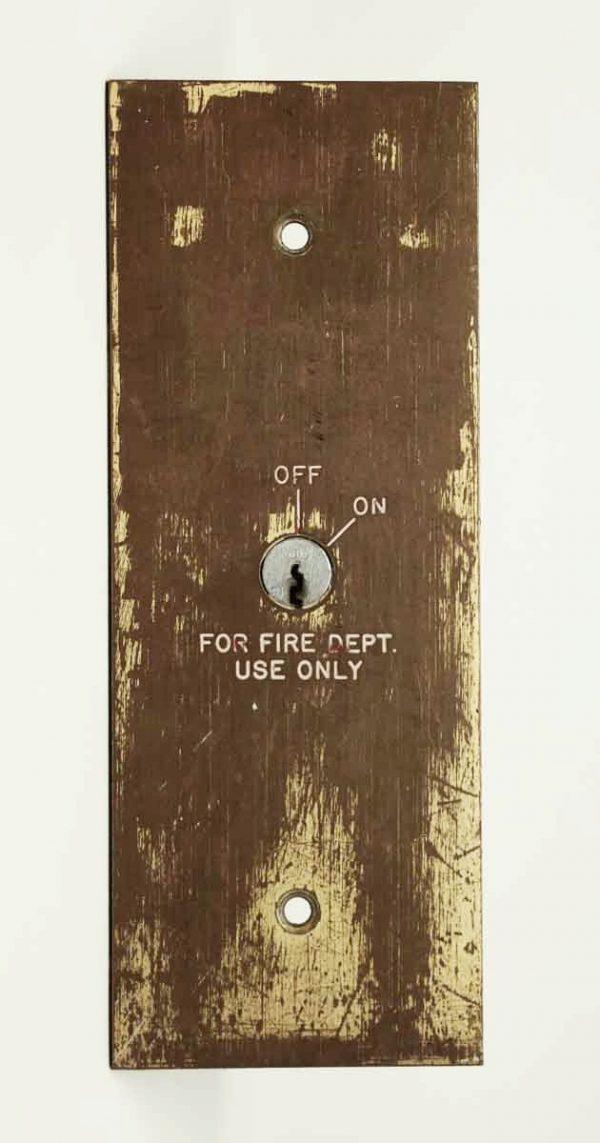 Brass Fire Department Elevator Plate - Elevator Hardware