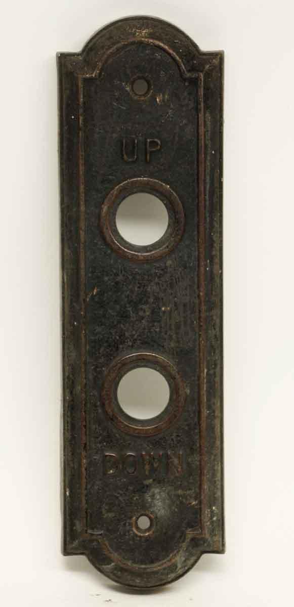 Black Patina Up & Down Elevator Button Plate - Elevator Hardware