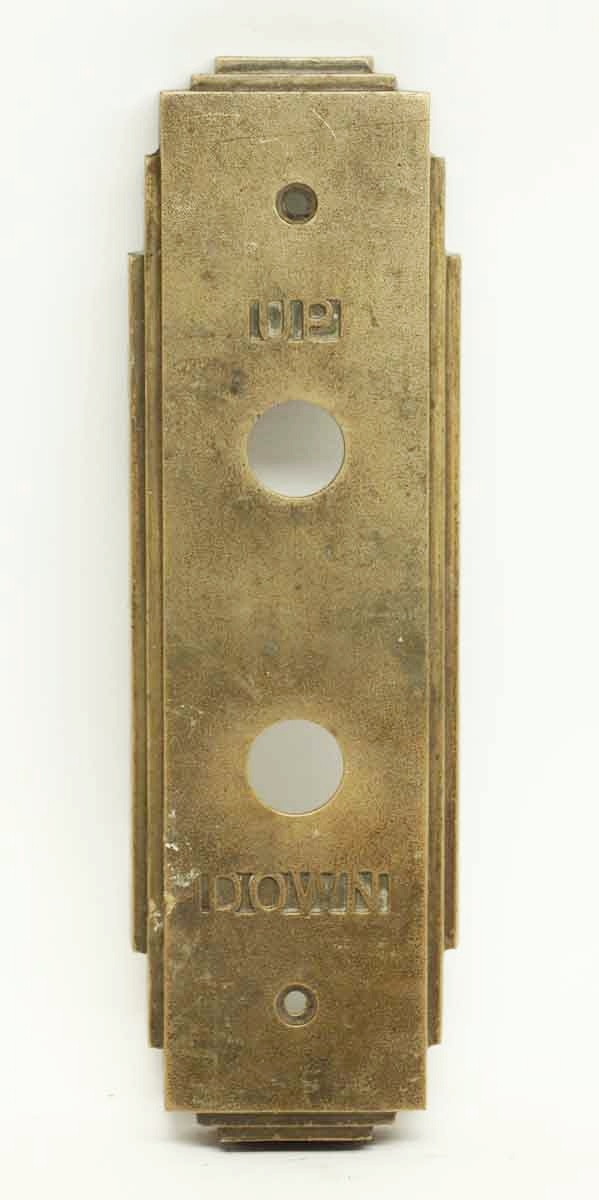 Antique Art Deco Elevator Button Plate Olde Good Things