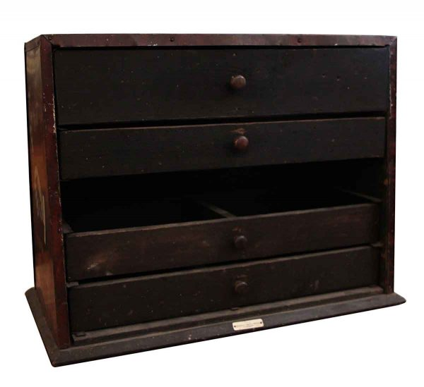 Vintage Utica Drop Forge & Tool Co. Wooden Plier Toolbox Cabinet - Tools
