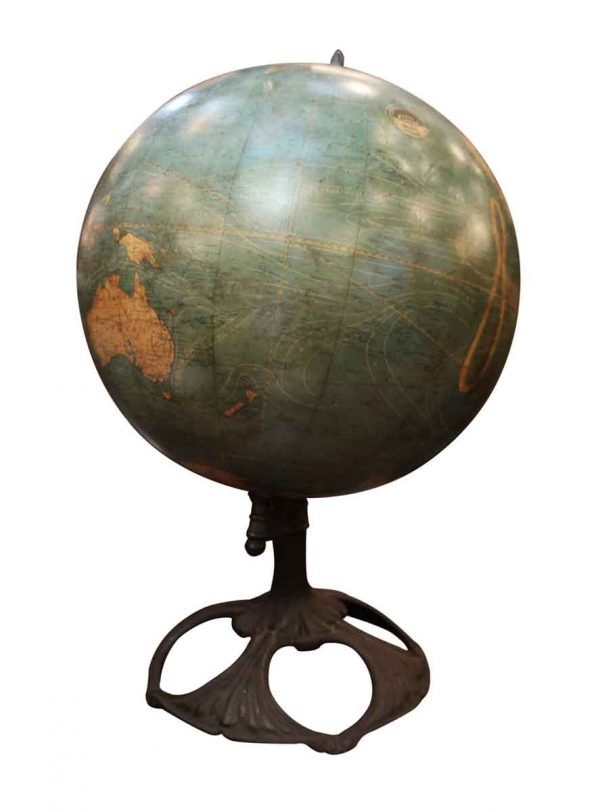 Art Nouveau 1910 Johnson Terrestrial Globe - Globes & Maps