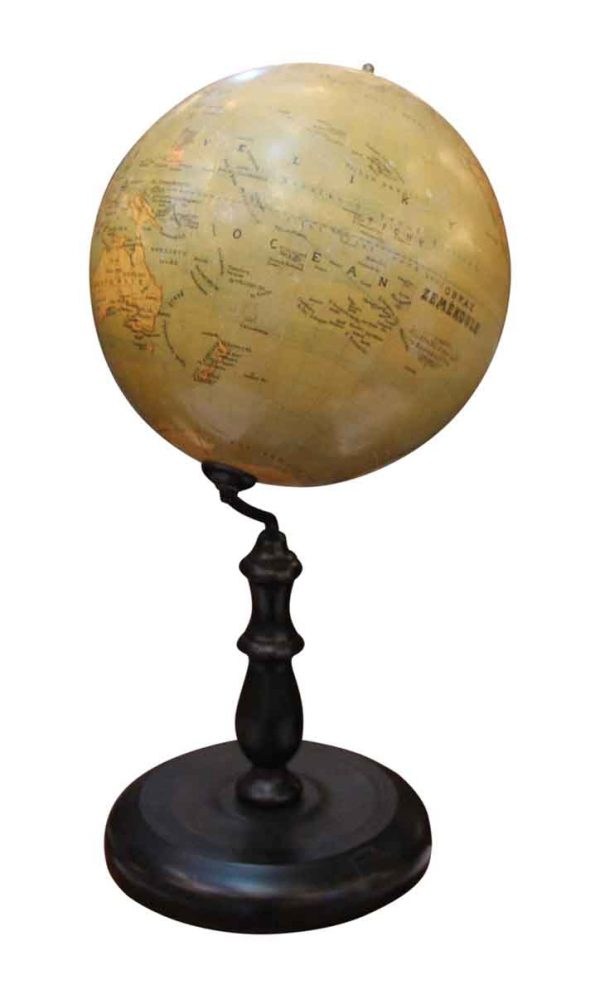 1880s Obraz Zemekoule Globe - Globes & Maps