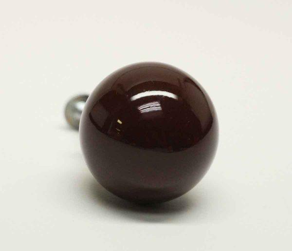 Ceramic Ball Shaped Brown Knob - Cabinet & Furniture Knobs