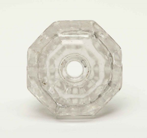 Vintage Clear Octagon Shaped Glass Knob - Cabinet & Furniture Knobs