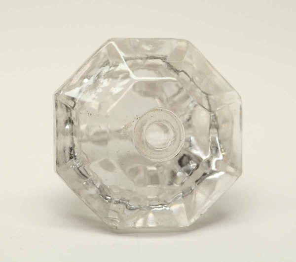 Vintage Cut Glass Octagon Shaped Knob - Cabinet & Furniture Knobs