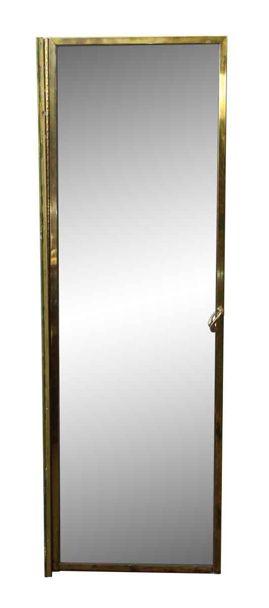 Salvaged Brass Shower Door with Lever Handle - Specialty Doors