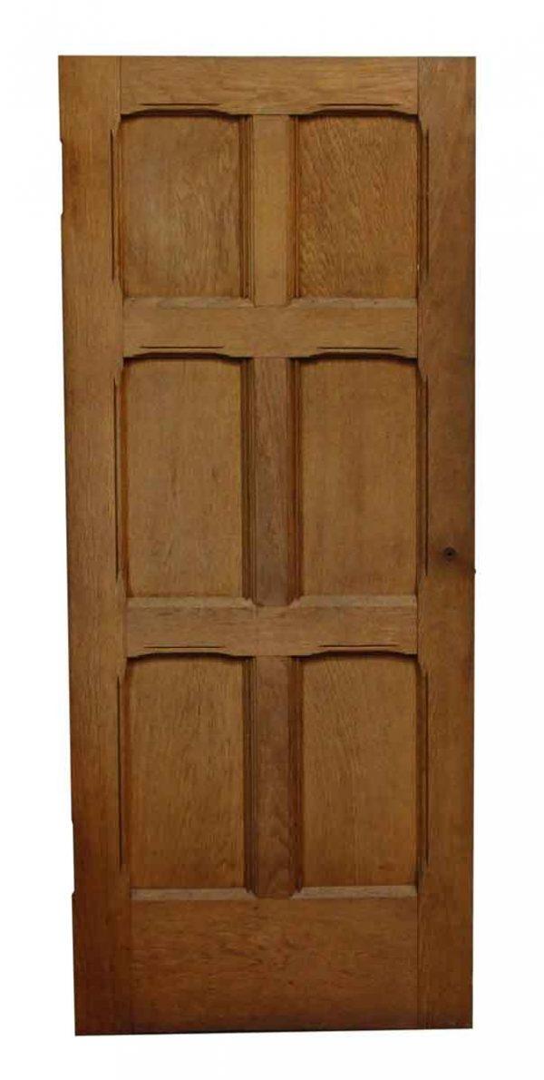 Small Six Panel Cherry Salvaged Door - Specialty Doors
