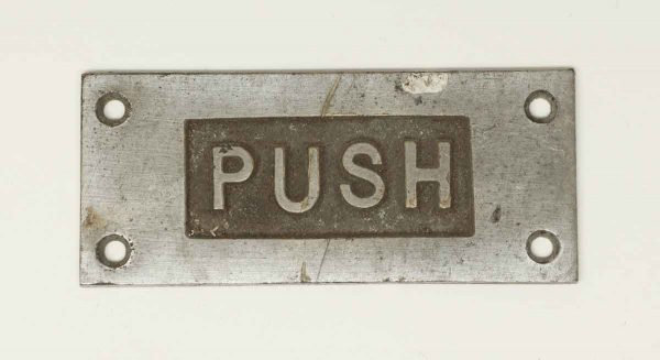 Nickel Over Bronze Inscribed Push Plate - Push Plates