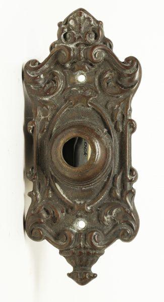 Charmant Antique Doorbell Cover Vine Ornate Hardware Metal Retro
