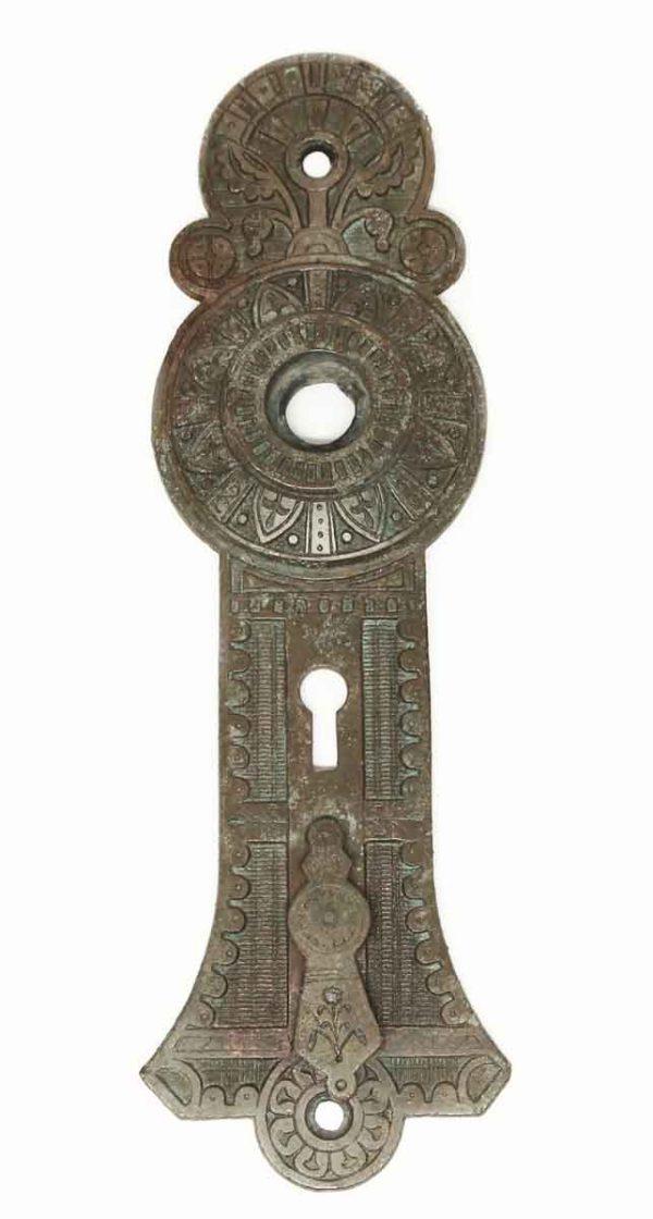 Back Plates - Aesthetic Double Keyhole Bronze Door Plate