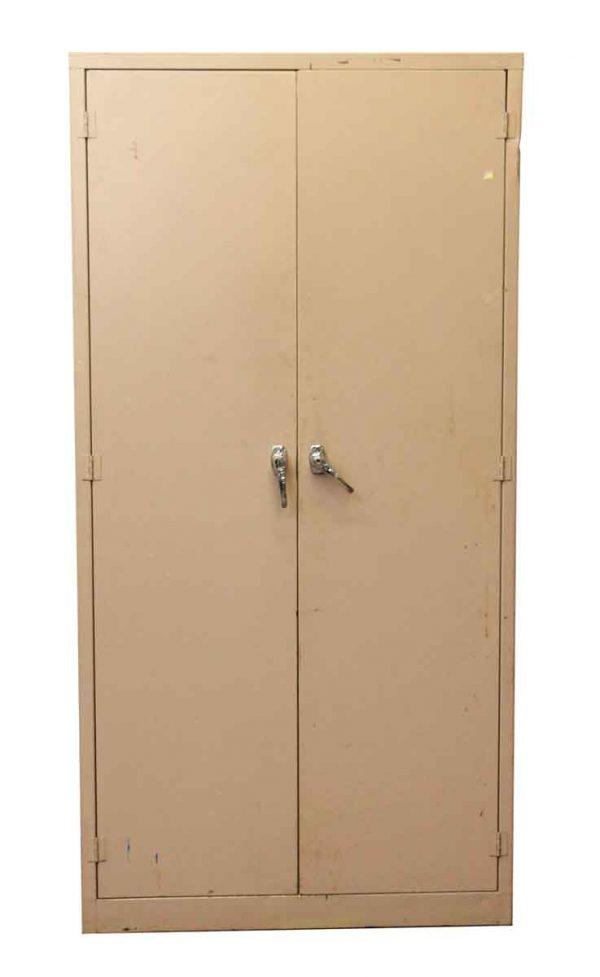 Cabinets - Vintage Pink Metal Locked Cabinet