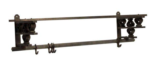 Coat Racks - French Nickeled Brass Coat Rack
