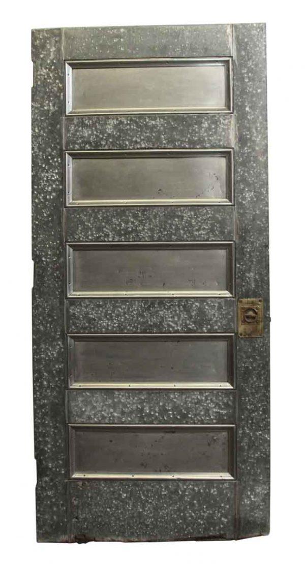 Commercial Doors - Antique Galvanized Steel Door with Five Panels