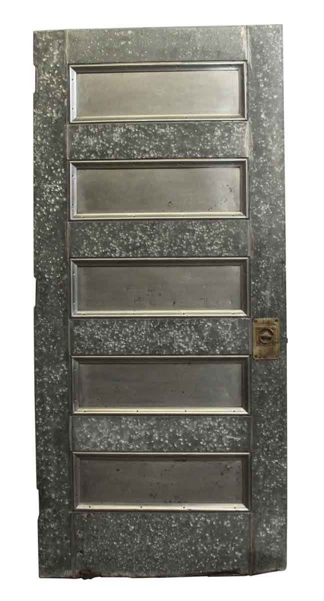 Commercial Doors - Antique Galvanized Steel Door with Five Panels  sc 1 st  Olde Good Things & Antique Galvanized Steel Door with Five Panels | Olde Good Things